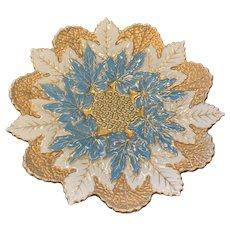 New York & Rudolstadt Pottery Leaf Cabinet Plate