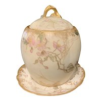 CFH/GDM Limoges Biscuit Jar with Underplate