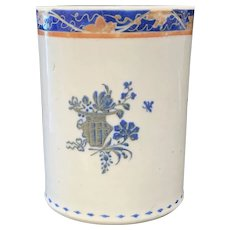 Chinese Export Porcelain Cann, Early 19th C, Made for the American Market