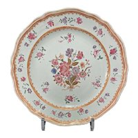 Chinese Export Famille Rose Plate Ca. 1760