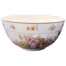KPM Porcelain Punch Bowl Ca. 1850's