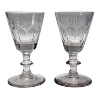 Two 19th C Cut Crystal Cordials, Late 19th C