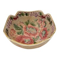 Small Asian Serving Bowl With Chrysanthemum