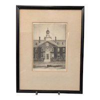 Architectural Etching By Don Swann, Baltimore Artist