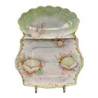 T&V Limoges Porcelain Shellfish Plate