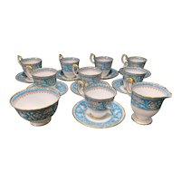 "8 Crown Staffordshire ""Ellesmere"" Demitasse Cups & Saucers"