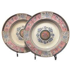 Two Bates, Gildea & Walker Lunch Plates ca 1880