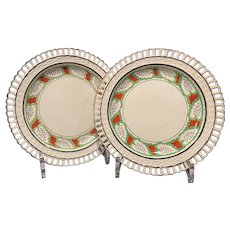 Two Staffordshire Dessert Plates Ca. 1820