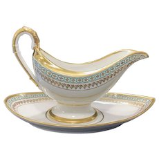 Deroche á Paris Gravy Boat with Underplate, Early 19th C