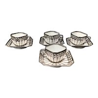 Fraureuth Demitasse Cups & Saucers, Set of 4