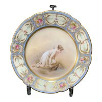 Dresden Hand Painted Cabinet Plate, Late 19th C