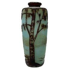 de Vez Miniature Cameo Vase, Ca. 1910