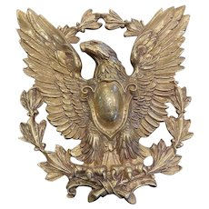 Solid Brass Eagle Wall Plaque