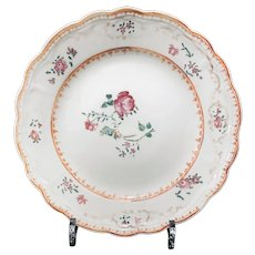 Chinese Export Famille Rose Plate Ca. 1800