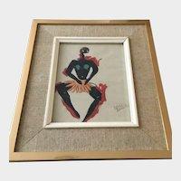 Josephine Baker watercolor