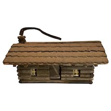 Primitive Folk Art Log Cabin - Bird House