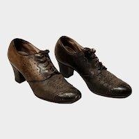 Ladies Leather Vintage Fashion Shoes