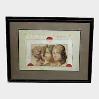 Engraving of Four Women Indistinctly Signed