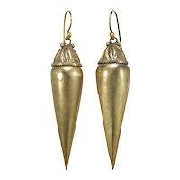 Antique 14K gold dangle drop earrings