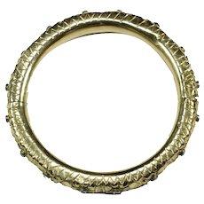 Antique ruby 12K gold bracelet