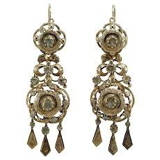 Victorian 18K gold diamonds earrings