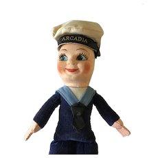 Vintage Smiling Sailor Boy Doll