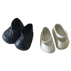 Two pair  1960's  doll shoes for larger doll
