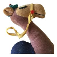 "Vintage toy plush Camel  tagged "" WOOLIKIN"""