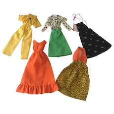 Lot of Vintage Barbie sized clothing
