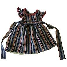 Vintage dolls multi colored pinafore/dress