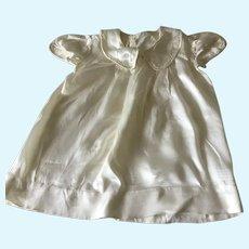 Vintage White soft Silky doll dress