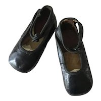 Vintage black leather child's Shoes