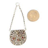Filagree Sterling Silver Doll Sized Purse