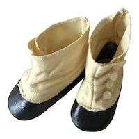Doll Shoes Black and White