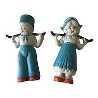 Bisque Dutch Boy & Girl Doll