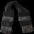 Victorian Miser's Purse Black & Marcasite Beads