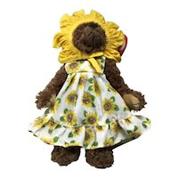 "TY Sunflower Bear ""Susannah"" Attic treasure Collection"