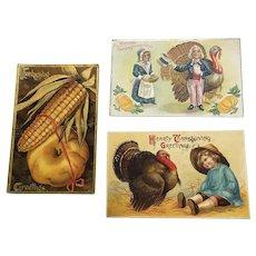 Thanksgiving Postcard Lot #1'