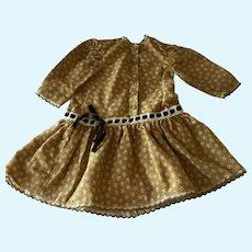 Antique Flannel Drop Waist Doll Dress