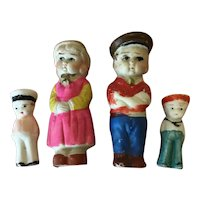 Lot 4 Bisque Immobiles marked Japan