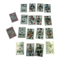 """Antique playing cards beautiful images- 2 1/2"""" x 1 3/4"""""""