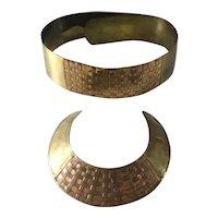 Woven Copper & Brass Choker & Brass