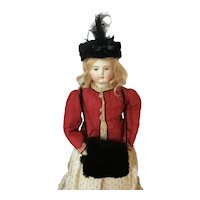 Handcrafted Doll Fur Hat & Muff