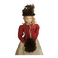 Mink Fur Doll Hat & Muff