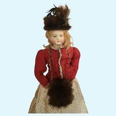Mink Fur Doll Hat & Muff