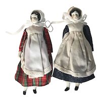 "Two Replica 7"" China Dolls"