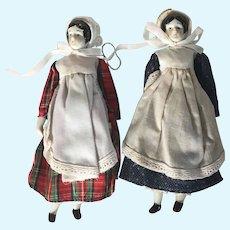 "Two Replica 7"" China Dolls"