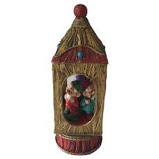 Vintage  Seasonal Music Box with Elves