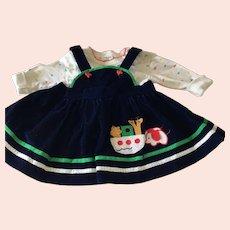 Child's Noah's Ark Appliquéd Dress