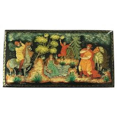 Russian Lacquer Box - detailed painting
